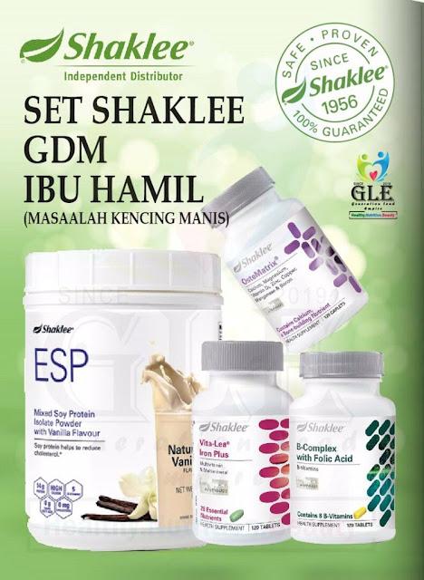 Set Kencing Manis ( GDM ) Shaklee Untuk Ibu Hamil