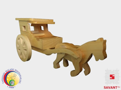Miniature Wooden Calesa Philippines