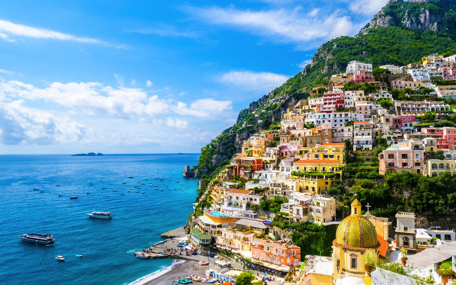 Побережье Амальфи в Италии
