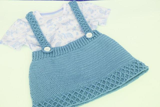 3 - Crochet Imagen Falda con tirantes a crochet y ganchillo por Majovel Crochet paso a paso facil sencillo familia batera punto alto punto bajo doble