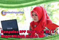 Download Kumpulan RPP Kurikulum 2013 Mapel Akidah Akhlak MI Kelas I - VI