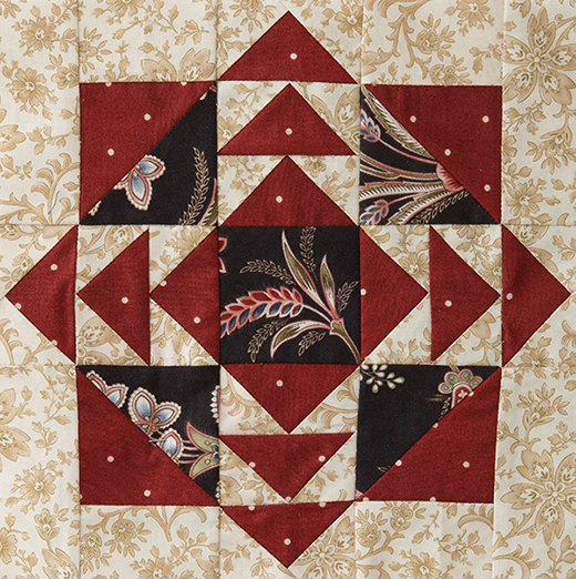 Mystery Quilt Block 6 designed by Monique Dillard of Open Gate Quilts