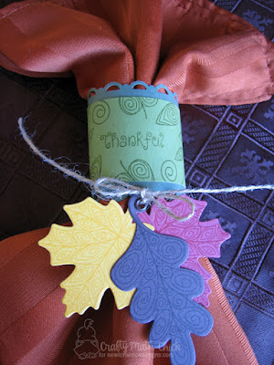 Thanksgiving Napkin Ring by Crafty Math Chick | Beautiful Leaves stamp set & dies set by Newton's Nook Designs