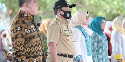 Gubernur Lampung dan Ketua TP PKK Provinsi Lampung Gelar Bakti Sosial di Pesawaran