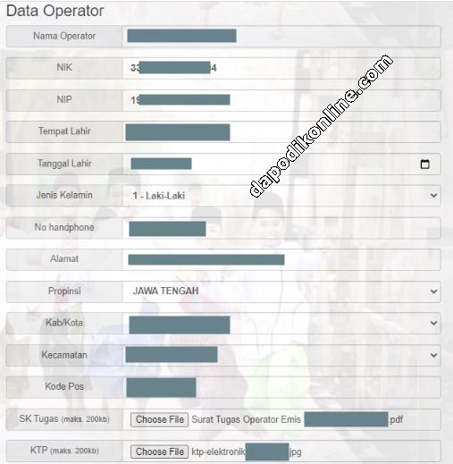 Cara Input Data Operator Emis Pendis TPQ-Madin-Pondok Pesantren