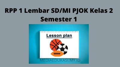Download RPP 1 Lembar SD/MI PJOK Kelas 2 Semester 1