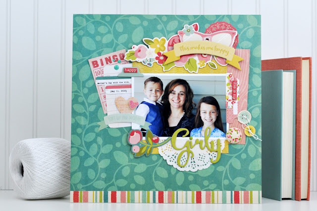 Mother's Day Scrapbooking Layout created by Jen Gallacher for SCT Magazine. Video and supply list included. #scrapbooking