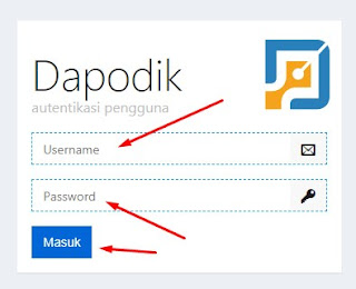 Masukkan Username dan Password Dapodik Sipintar Enterprise