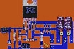Skema dan PCB Power Amplifier IC TDA2030