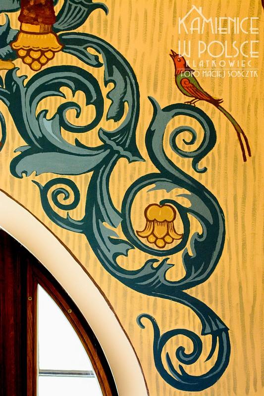 Szklarska Poręba. Wnętrze. Malowidło na ścianie. 1911.