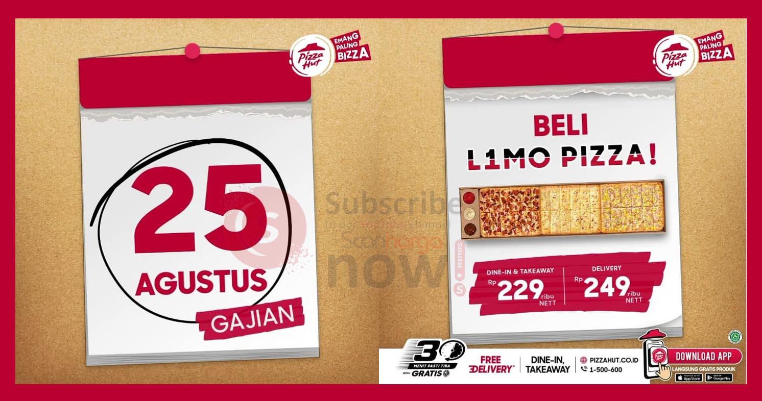 Promo Pizza Hut Gajian - Beli L1MO PIZZA Cuma Rp. 229.000