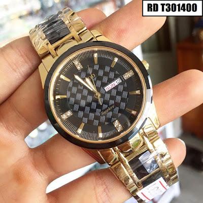 Đồng hồ đeo tay nam mặt tròn dây đá ceramic RD T301400