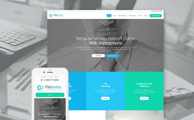 Best Financial Advisor Website Theme