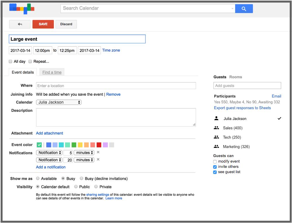 G Suite Updates Blog Better manage large events in Google Calendar
