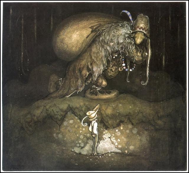 john bauer, trolle, ilustracje baśni, grimm, Mateusz Świstak, baśnie na warsztacie