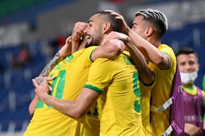 Com gol de Matheus Cunha, Brasil vence Egito e está na semifinal dos Jogos Olímpicos de Tóquio