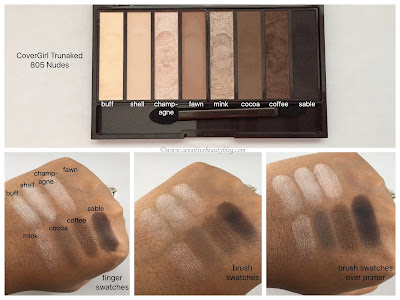 Covergirl trunaked Nudes Palette swatches