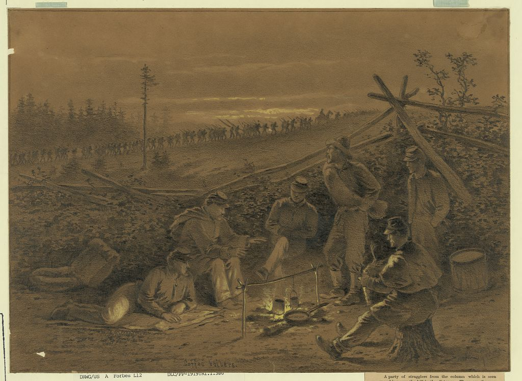 創作者/Forbes Edwin, 1839-1895 ,現存於美國國會圖書館。本照片摘自https://coffeeordie.com/coffee-civil-war/