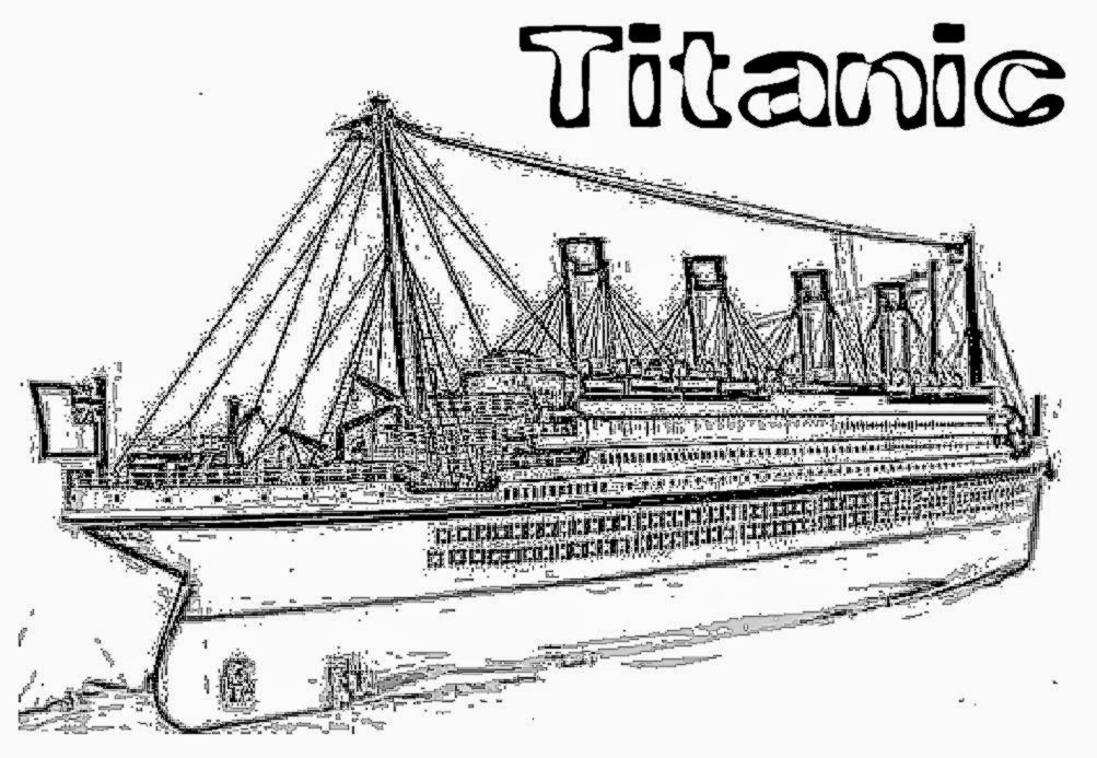 Coloring pages titanic ~ Coloring pages large printable titanic pictures