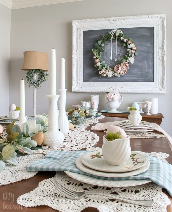 cottage Spring tablescape
