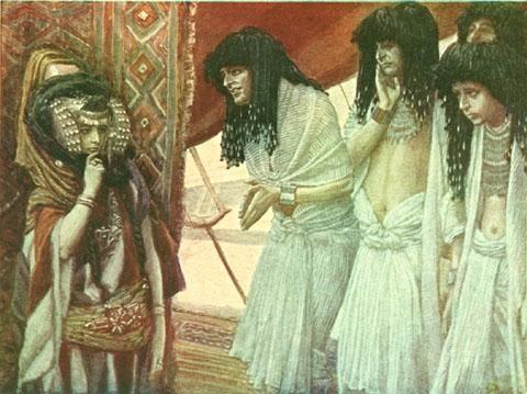 The Egyptians Admire Sarai's Beauty - By James Tissot