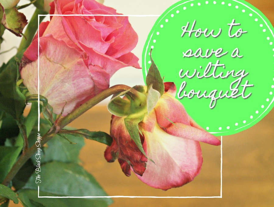 How to save a wilting bouquet of flowers and enjoy them longer.