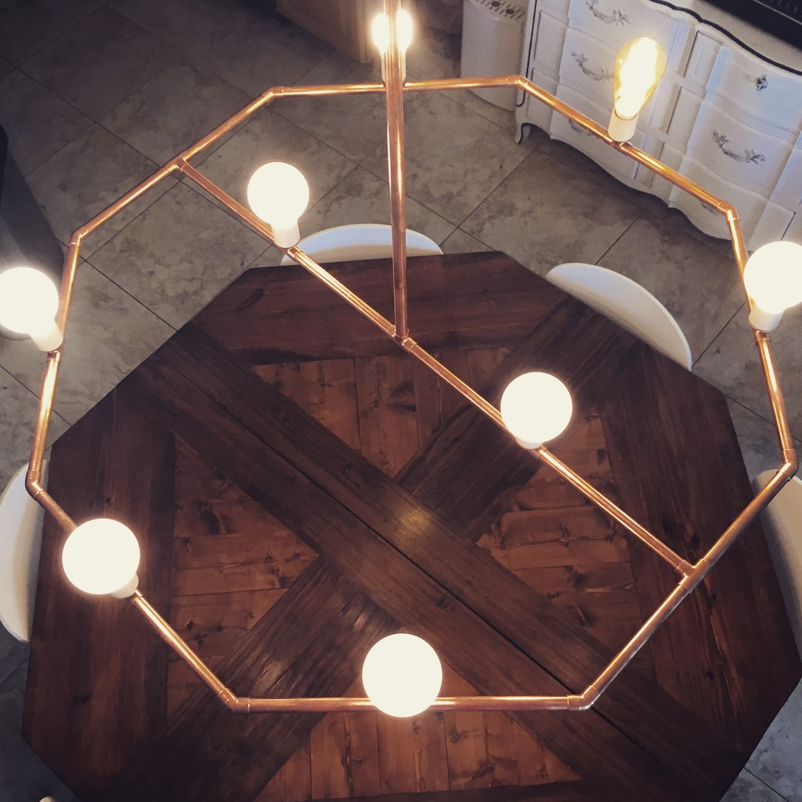 CK and Nate header: DIY a Copper Pipe Chandelier