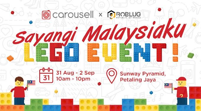 "CAROUSELL |  ""SAYANGI MALAYSIAKU""  LEGO ART EXHIBITION IN CONJUNCTION WITH MERDEKA"