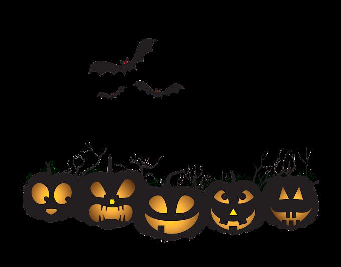 black and yellow Halloween illustration, Halloween Jack-o'-lantern Pumpkin, Halloween, happy Halloween, design png by: pngkh.com