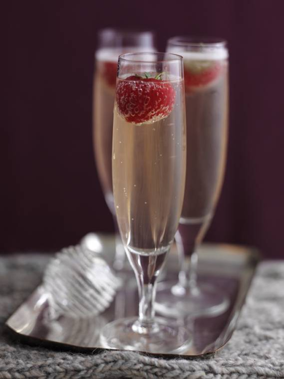 Strawberry Champagne Cocktails