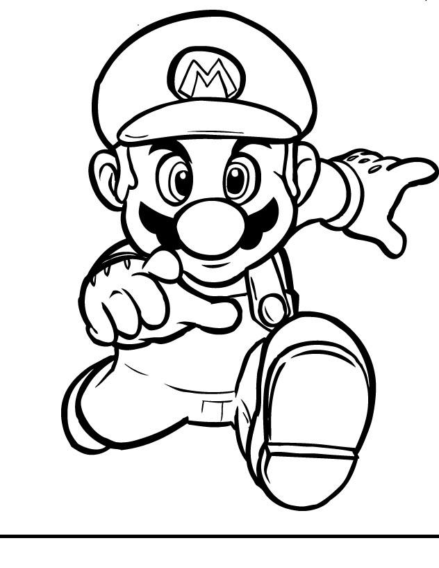 Colorindo E Desenhando Super Mario Para Colorir
