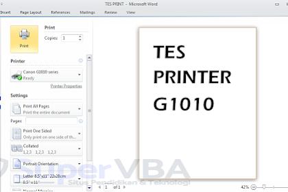 Install Printer Canon G1010 Tanpa CD Dengan Mudah