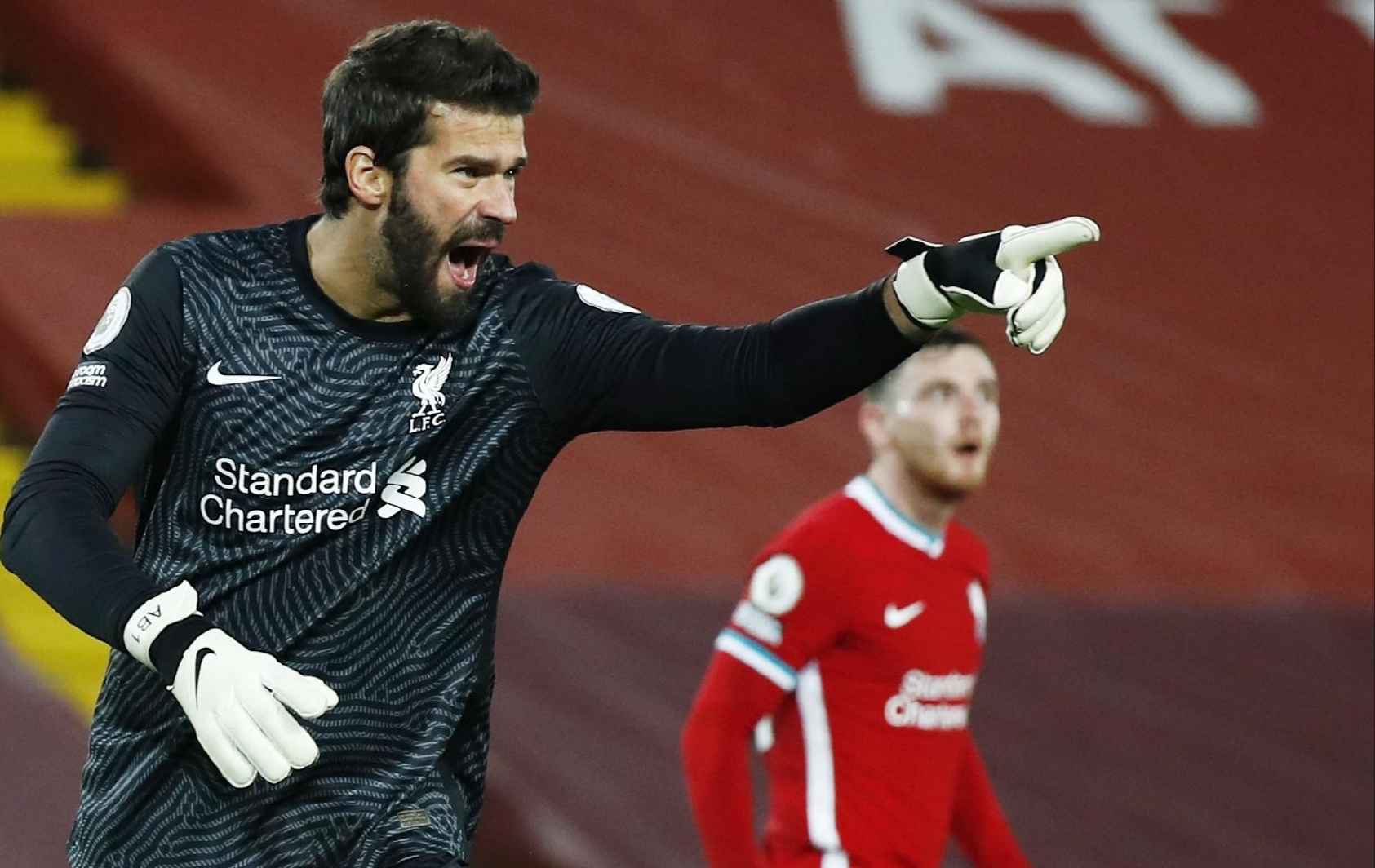 Alisson Becker back from shoulder injury.