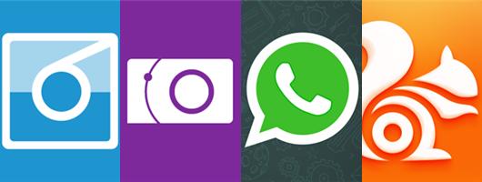 Nokia Camera, WhatsApp, 6tag, UC Browser for Nokia Lumia Windows