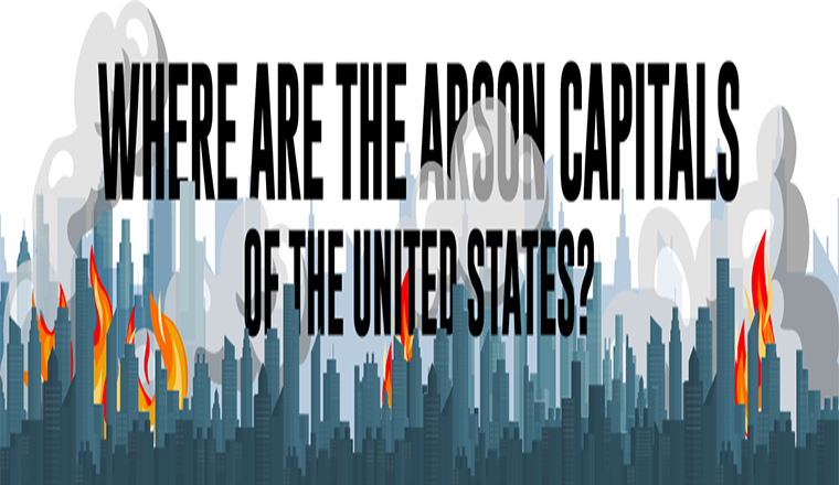 The Arson Capitals Of The United States #infographic