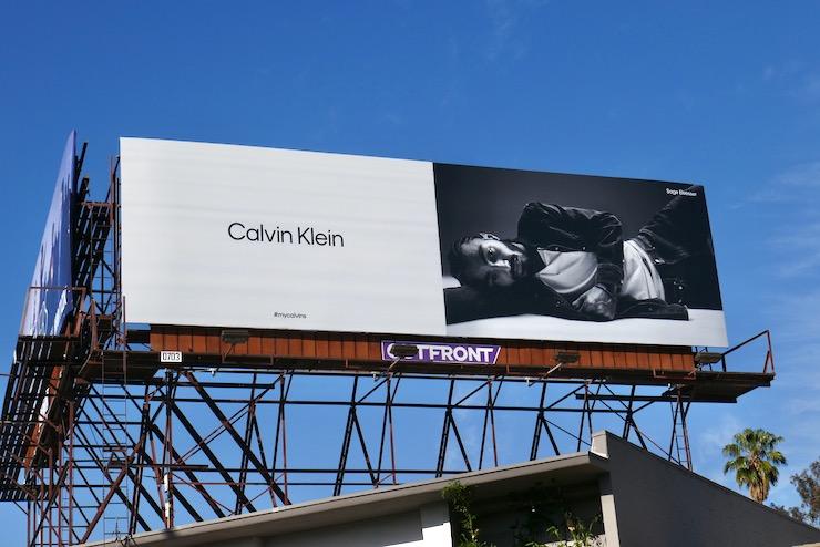 Calvin Klein Sage Elsesser billboard