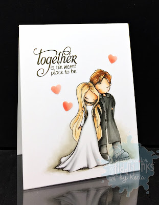 Tiddly Inks, Kecia Waters, Copic markers, wedding, couple, love