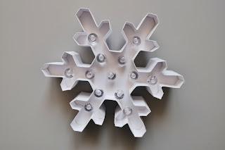 Śnieżynka DIY gwiazdka lampka