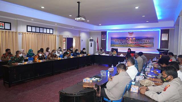 Polresta Jayapura Kota Gelar Sosialisasi Bakohumas Bersama Instansi Terkait