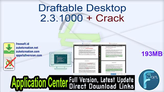 Draftable Desktop 2.3.1000 + Crack