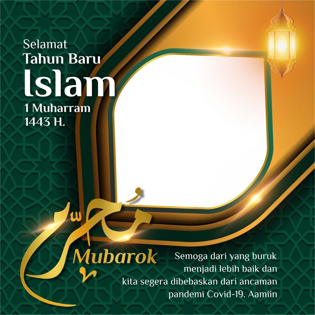 Template Frame Bingkai Twibbon Selamat Tahun Baru Islam 2021 - Twibbonize
