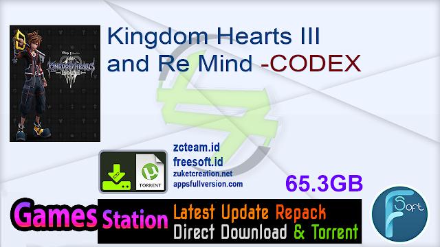 Kingdom Hearts III and Re Mind -CODEX