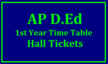 AP D.El.Ed 1st Year Time Table and Hall Tickets June 2019 (2017-19 Batch) | Download Exam Dates @ bseap.org AP D.El.Ed 1st Year Time table June 2019 for Batch 2017-19: AP D.El.Ed Hall Ticket Release Date | The Board Of Secondary Education, Andhra Pradesh (BSE AP) has released the Diploma for Elementary Education (D.El.Ed) annual examination time table for 1st Year Exams to beheld in the Month of June 2019. The Time Table for AP D.El.Ed 1st Year Exams will be Available on official Website bseap.org. AP D.El.Ed 1st Year Exam Dates For 2017-19 Batch/2019/05/ap-ded-first-year-exams-time-table-hall-tickets-results-main.bseap.org.html