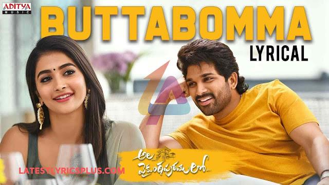 ButtaBomma Lyrics Allu Arjun & Pooja Hegde Ala Vaikunthapurramloo