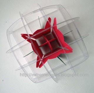 sliceform acetate paperweight
