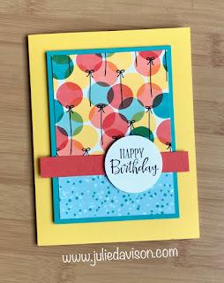 8 Cards, 1 Layout with SAB Designer Paper Sampler ~ Stampin' Up! Birthday Bonanza Designer Paper + Peaceful Moments stamp set ~ January-June 2020 Mini Catalog ~ www.juliedavison.com