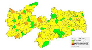 Plano Novo Normal: 80% dos municípios ainda estão na bandeira amarela