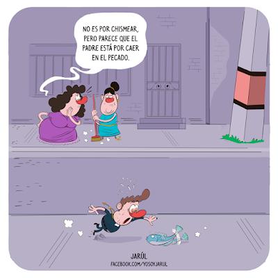Viñeta de humor carolo por jarúl, yosoyjarul, humor dominicano, humor gráfico,