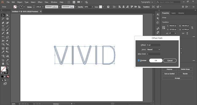 Multiple Stroke Text Effect in Adobe Illustrator