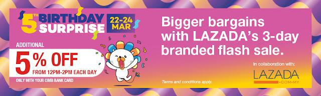 Lazada Birthday Campaign CIMB Bank Card Discount Promo
